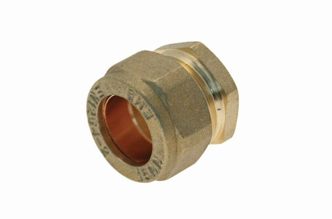 12mm Stopend - Brass